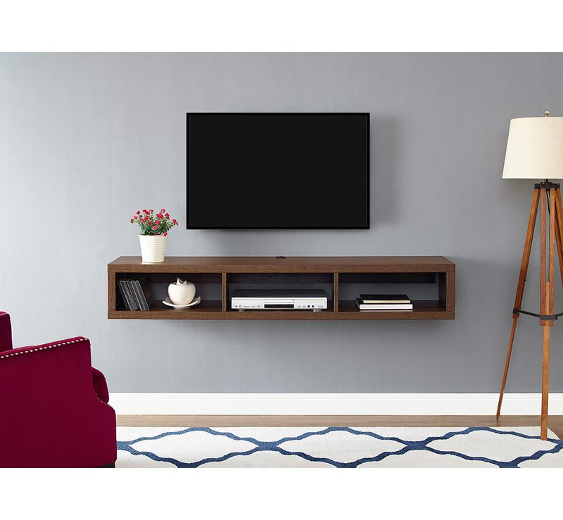 Floating Tv Shelf Wall Mounted Storage Shelf Modern Tv Stands Pertaining To Popular Orren Ellis Moats Wall Mounted Tv Stand For Tvs Up To  (View 10 of 10)
