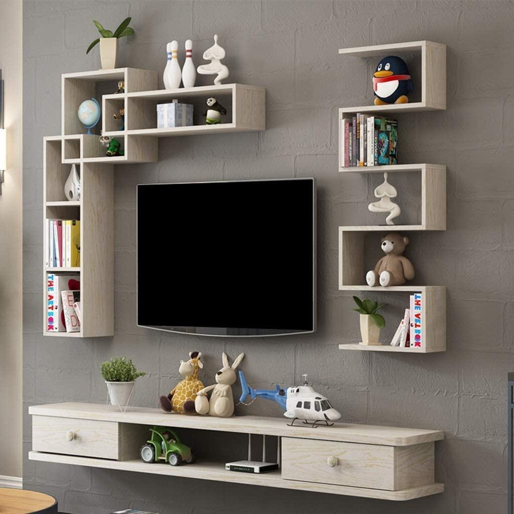 Floating Tv Shelf Wall Mounted Storage Shelf Modern Tv Stands Throughout Newest Agwa Floating Shelf Floating Shelf Wall Mounted Tv Cabinet (View 3 of 10)