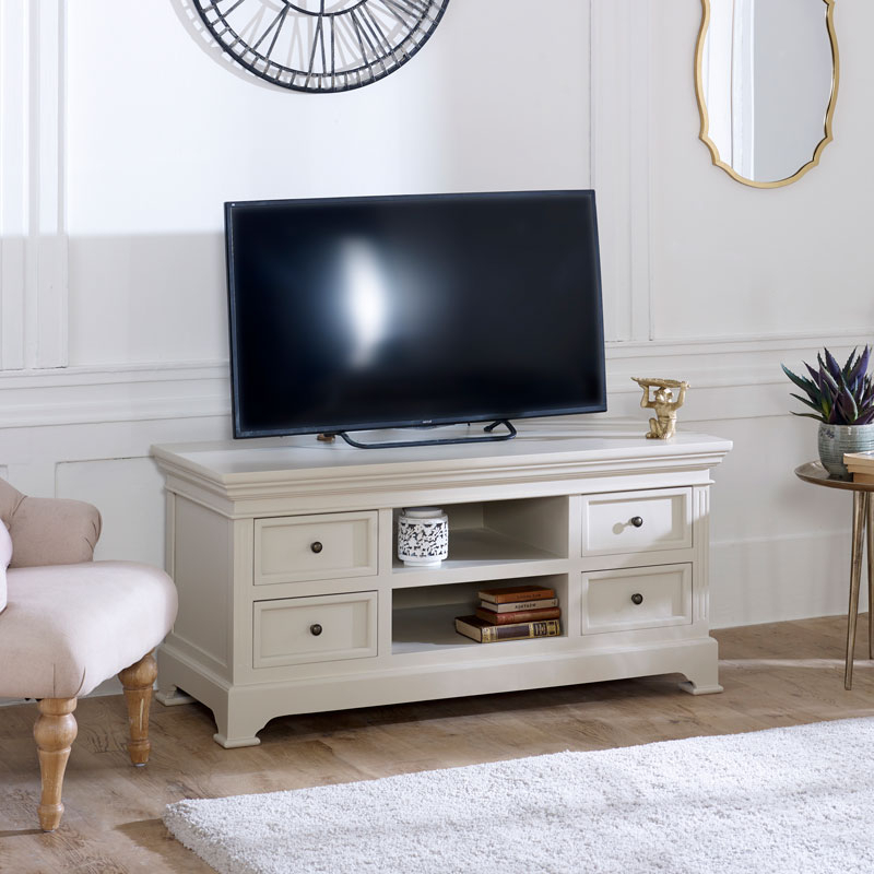 Flora Pertaining To Scandi 2 Drawer Grey Tv Media Unit Stands (View 4 of 10)