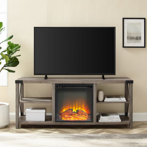 """Foundry Select Arsenault Tv Stand For Tvs Up To 65"""" With For 2018 Rickard Tv Stands For Tvs Up To 65"""" With Fireplace Included (View 3 of 25)"""