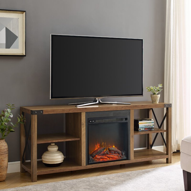 """Foundry Select Arsenault Tv Stand For Tvs Up To 65"""" With Regarding Most Up To Date Rickard Tv Stands For Tvs Up To 65"""" With Fireplace Included (View 14 of 25)"""