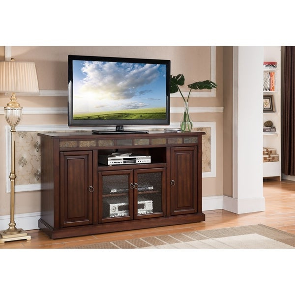 Freya Wide Tv Stands Intended For Popular Shop Newman Mocha 48 Inch Rta Entertainment Tv Stand (View 10 of 10)
