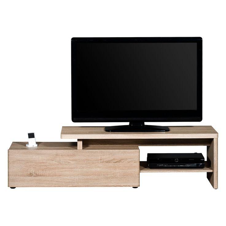 Fulton Corner Tv Stands In Trendy Tv Lowboard Cu Libre 160 – Eiche Sanremo Dekor, Jahnke (View 1 of 10)