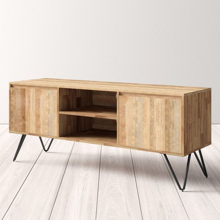 Fulton Tv Stands Throughout Most Up To Date Maleah Solid Wood Tv Stand For Tvs Up To 65 Inches (View 4 of 10)