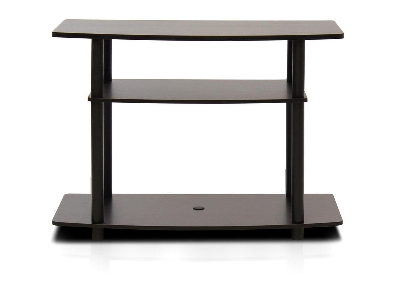 Furinno 13192dbr/bk Turn N Tube No Tools 3 Tier Tv Stands In Favorite Furinno Turn N Tube No Tool 3 Tier Entertainment Tv Stands (View 8 of 10)