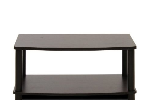 Furinno 2 Tier Elevated Tv Stands For 2017 Furinno 13191ex/bk Turn N Tube No Tools 2 Tier Elevated Tv (View 7 of 10)