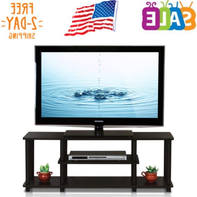 Furinno Turn N Tube No Tool 3 Tier Entertainment Tv Stands In 2017 Furinno 12250r1wn/bk Turn N Tube No Tools 3 Tier (View 2 of 10)