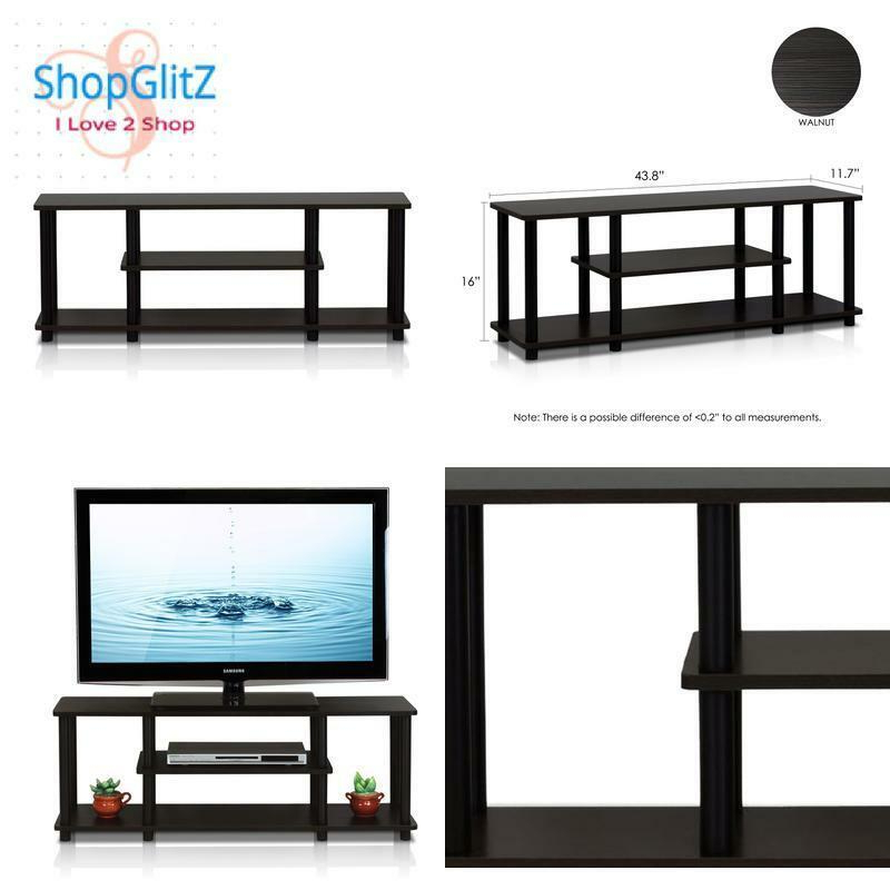 Furinno Turn N Tube No Tool 3 Tier Entertainment Tv Stands With Regard To 2017 Furinno 12250r1wn/bk Turn N Tube No Tools 3d 3 Tier (View 9 of 10)