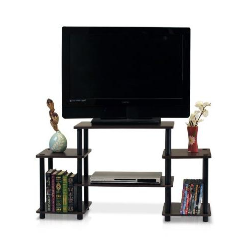 Furinno Turn N Tube No Tool 3 Tier Entertainment Tv Stands Within Most Popular Furinno 11257dbr/bk Turn N Tube No Tools Entertainment Tv (View 4 of 10)
