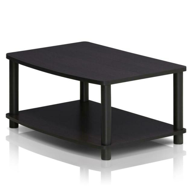 Furinno Turn N Tube No Tools 2 Tier Elevated Tv Stand Dark In Well Liked Furinno 2 Tier Elevated Tv Stands (View 5 of 10)