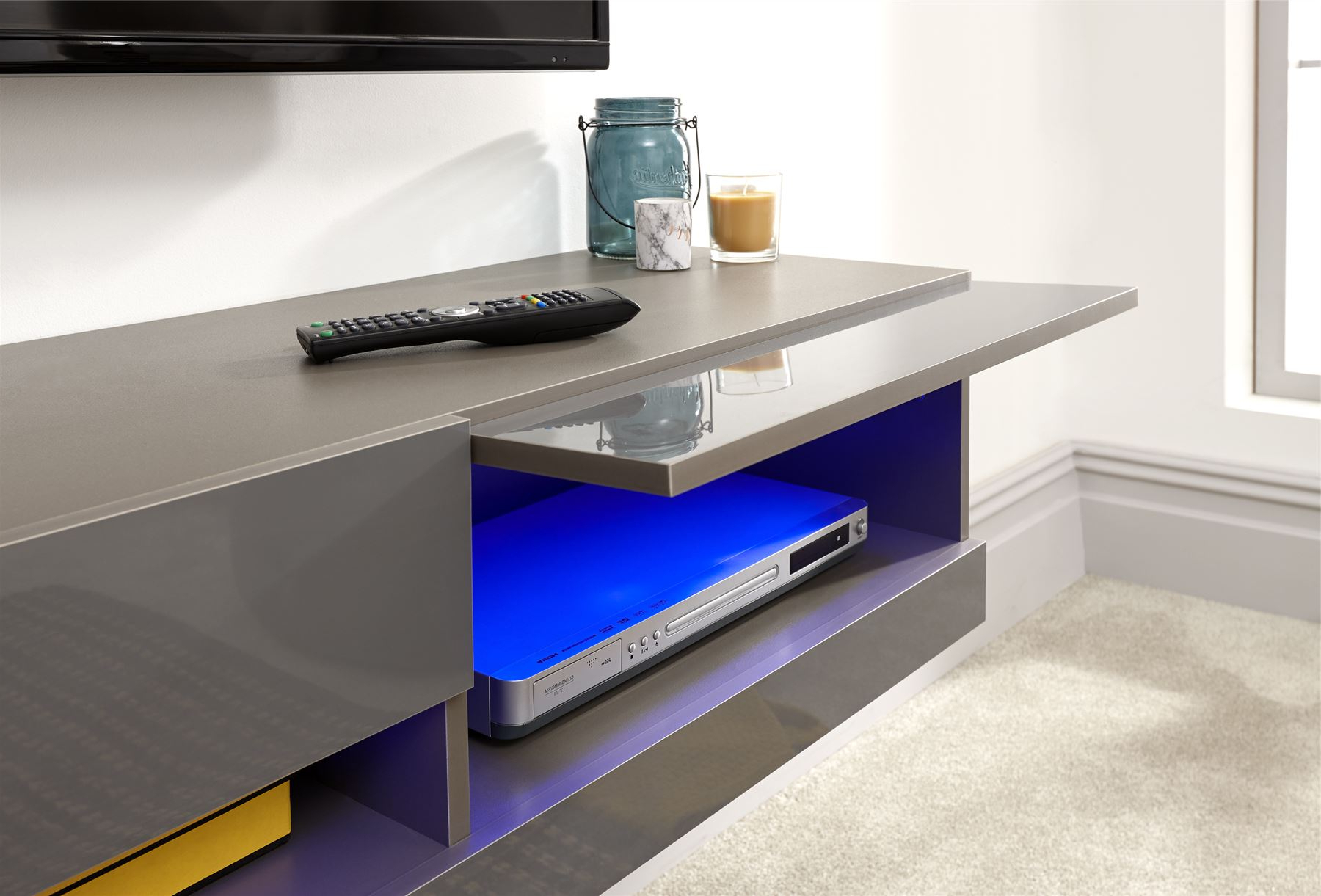 Galicia 180cm Led Wide Wall Tv Unit Stands Inside Recent Galicia 120cm 150cm 180cm Wall Tv Unit Stand W/ Led Lcd (View 2 of 10)