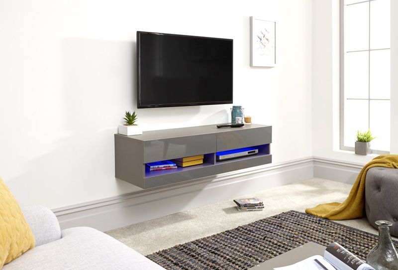 Gfw Galicia 120cm Wall Tv Unit With Led At Mattressman Regarding Widely Used Galicia 180cm Led Wide Wall Tv Unit Stands (View 7 of 10)