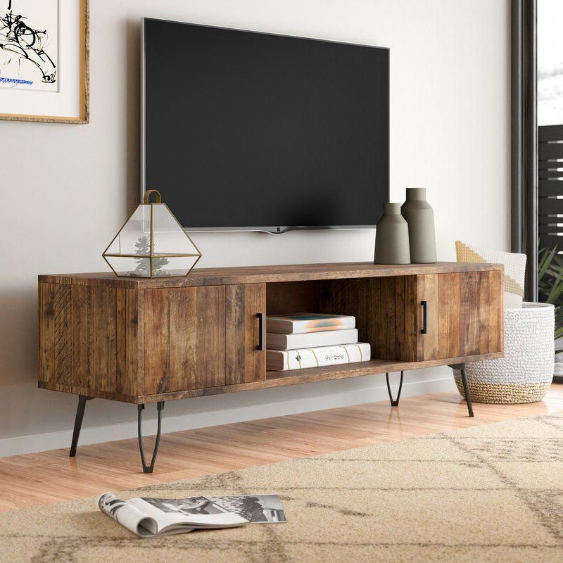 """Giltner Solid Wood Tv Stands For Tvs Up To 65"""" For Trendy Adger Solid Wood Tv Stand For Tvs Up To 65"""" In  (View 11 of 25)"""