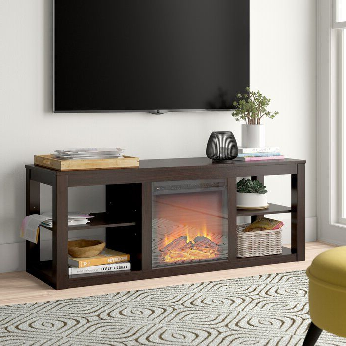 """Giltner Solid Wood Tv Stands For Tvs Up To 65"""" With Regard To Current Rickard Tv Stand For Tvs Up To 65"""" With Fireplace Included (View 16 of 25)"""
