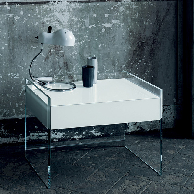 """Glas Italia Float Glass Night Stand – Modern – Nightstands With Regard To Newest Bari 160 Wall Mounted Floating 63"""" Tv Stands (View 4 of 10)"""