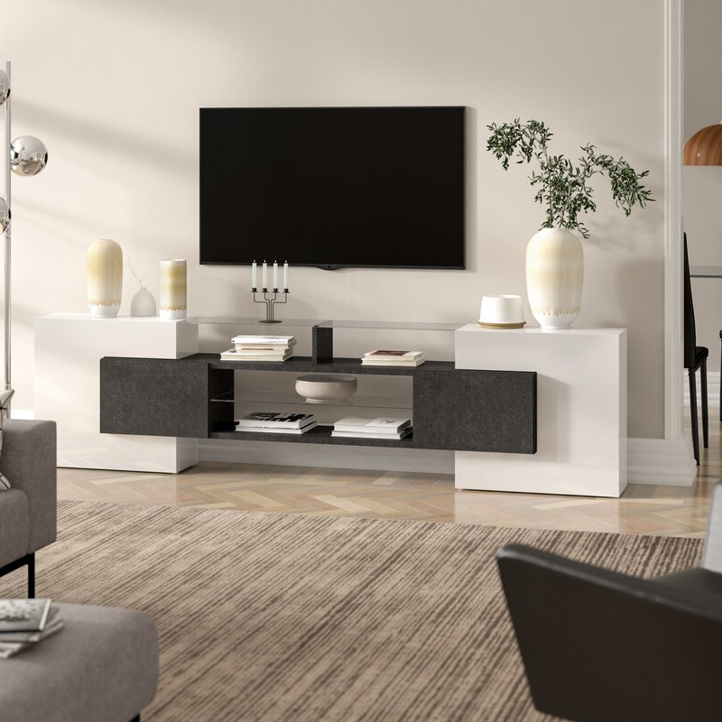 """Gosnold Tv Stands For Tvs Up To 88"""" With Regard To Famous Castleton Home Assistant Tv Stand For Tvs Up To  (View 16 of 25)"""