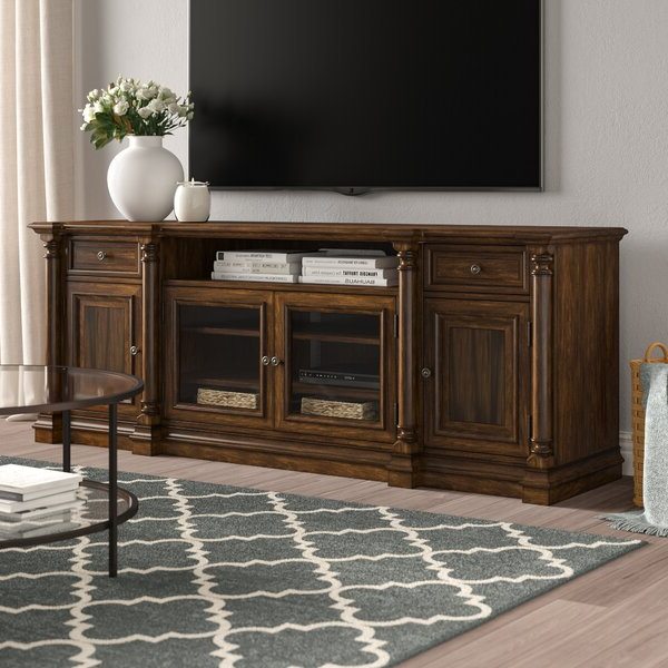 """Gosnold Tv Stands For Tvs Up To 88"""" With Widely Used Hooker Furniture Leesburg Solid Wood Tv Stand For Tvs Up (View 8 of 25)"""