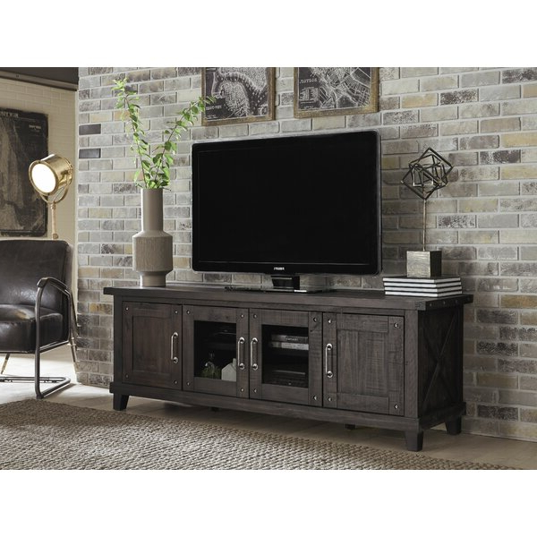 """Gracie Oaks Bucareli Solid Wood Tv Stand For Tvs Up To 88 Within Current Gosnold Tv Stands For Tvs Up To 88"""" (View 1 of 25)"""