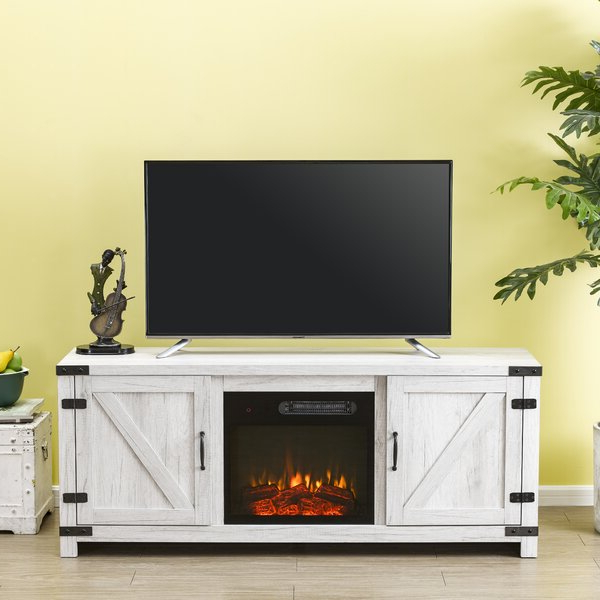 """Gracie Oaks Eakly Tv Stand For Tvs Up To 65"""" With Electric With Popular Neilsen Tv Stands For Tvs Up To 65"""" (View 4 of 25)"""
