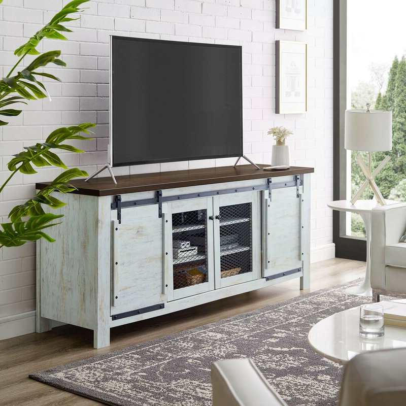 """Gracie Oaks Kegley Tv Stand For Tvs Up To 85"""" & Reviews For Favorite Griffing Solid Wood Tv Stands For Tvs Up To 85"""" (View 12 of 25)"""