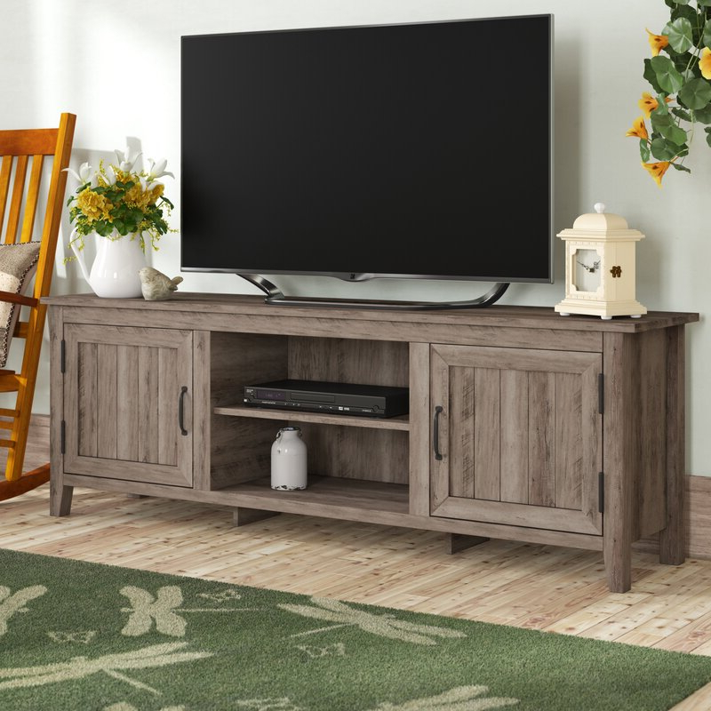 """Gracie Oaks Shreffler Tv Stand For Tvs Up To 78"""" & Reviews With Well Known Grandstaff Tv Stands For Tvs Up To 78"""" (View 7 of 25)"""