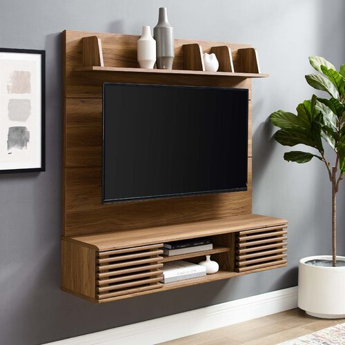 """Grandstaff Tv Stands For Tvs Up To 78"""" With Regard To 2018 Mercury Row® Grandstaff Floating Tv Stand For Tvs Up To  (View 23 of 25)"""