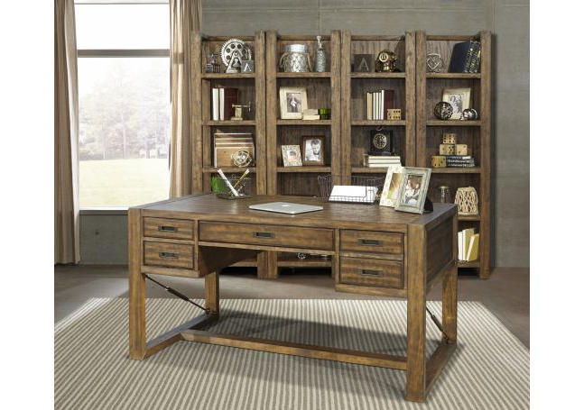 """Greenwich Corner Tv Stands Intended For 2018 Parker House Allister 60"""" Writing Desk With Turnbuckle In (View 6 of 10)"""
