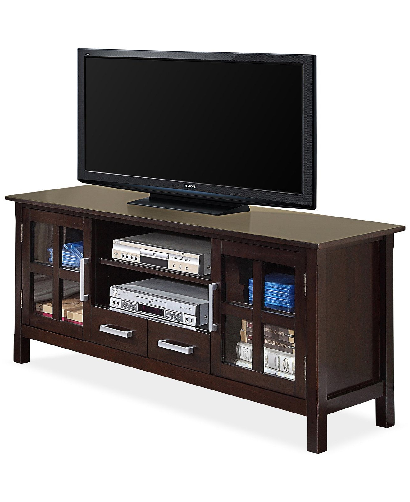 Greenwich Wide Tv Stands With Regard To Most Recently Released Simpli Home Rockville 60 Wide Tv Stand, Direct Ship – Tv (View 2 of 10)