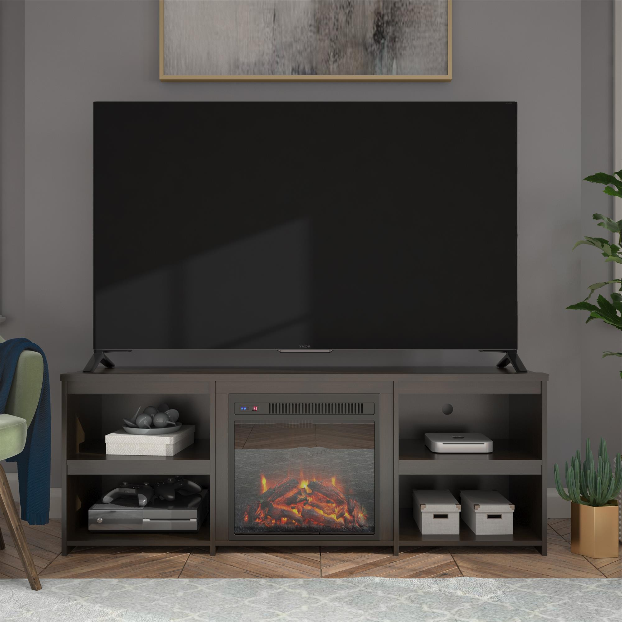 """Grenier Tv Stands For Tvs Up To 65"""" In Well Known Ameriwood Home Bannack Fireplace Tv Stand For Tvs Up To  (View 8 of 25)"""