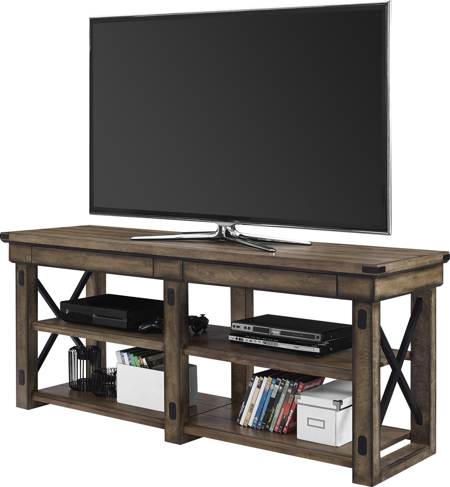 """Grenier Tv Stands For Tvs Up To 65"""" Intended For Most Current Dorel Wildwood 65 Inch Tv Stand Grey Wood Veneer For Inch (View 14 of 25)"""