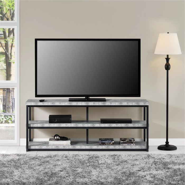 """Grey Room Regarding Grenier Tv Stands For Tvs Up To 65"""" (View 9 of 25)"""