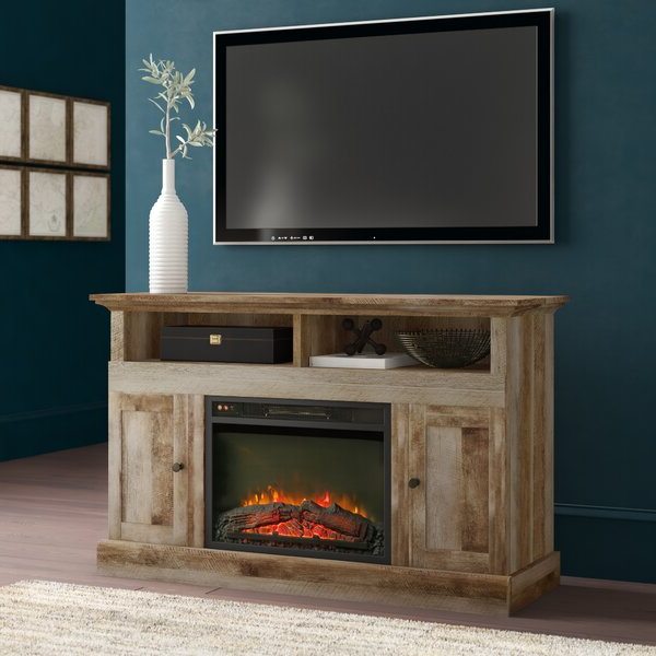 """Greyleigh™ Ringgold Tv Stand For Tvs Up To 58"""" With In Well Known Chicago Tv Stands For Tvs Up To 70"""" With Fireplace Included (View 2 of 25)"""