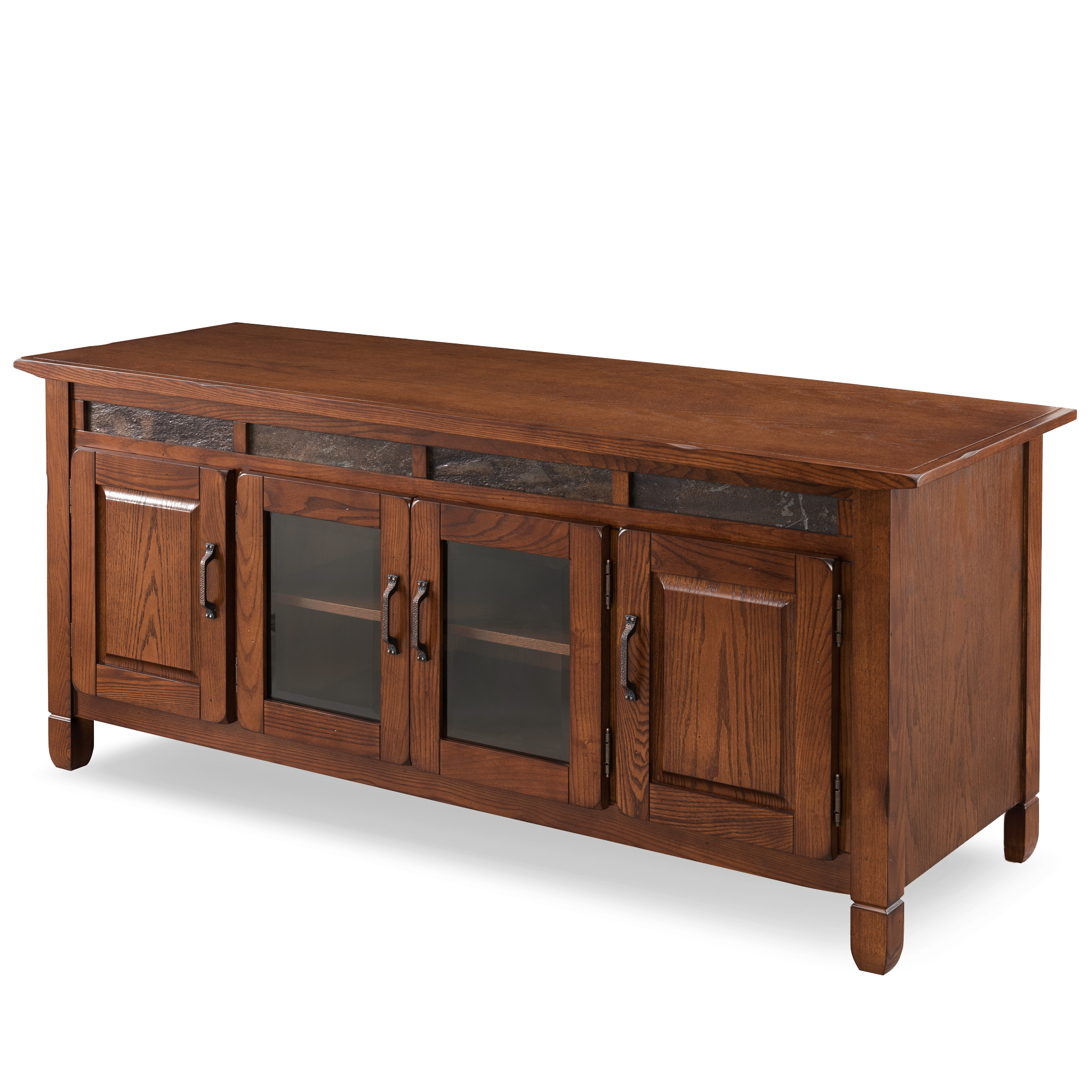"""Hal Tv Stands For Tvs Up To 60"""" Regarding Latest Leick Home 60"""" Tv Stand With Slate Tiles For Tv's Up To  (View 18 of 25)"""