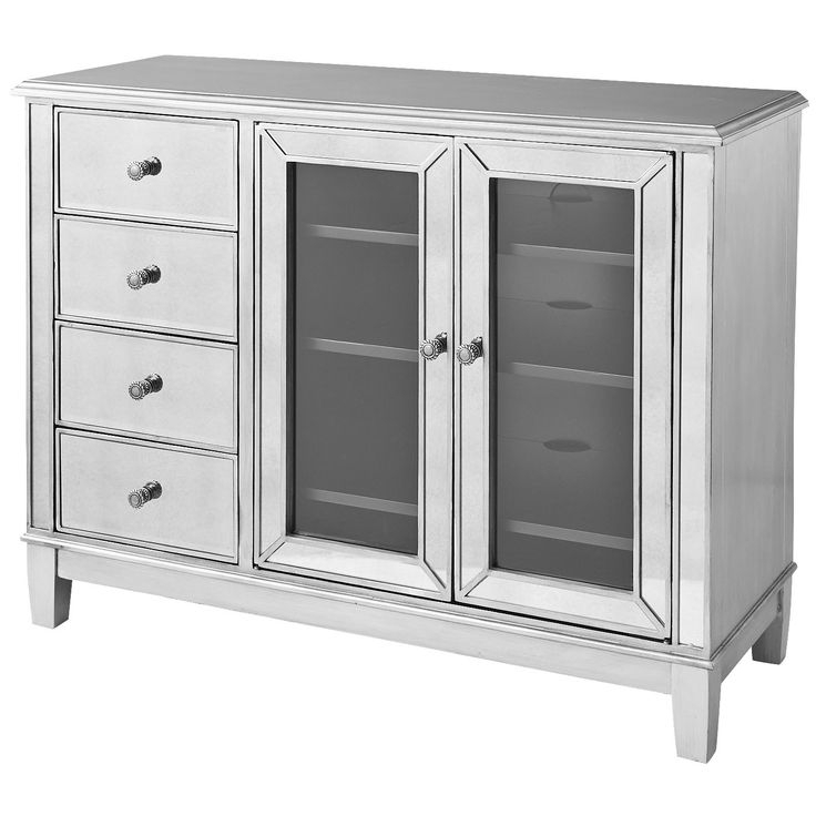 Hayworth Mirrored Tv Stand – Silver (View 16 of 25)