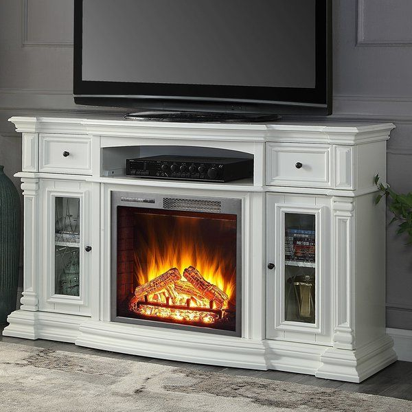 """Hetton Tv Stands For Tvs Up To 70"""" With Fireplace Included Inside 2018 Raya Tv Stand For Tvs Up To 70"""" With Fireplace Included (View 13 of 25)"""