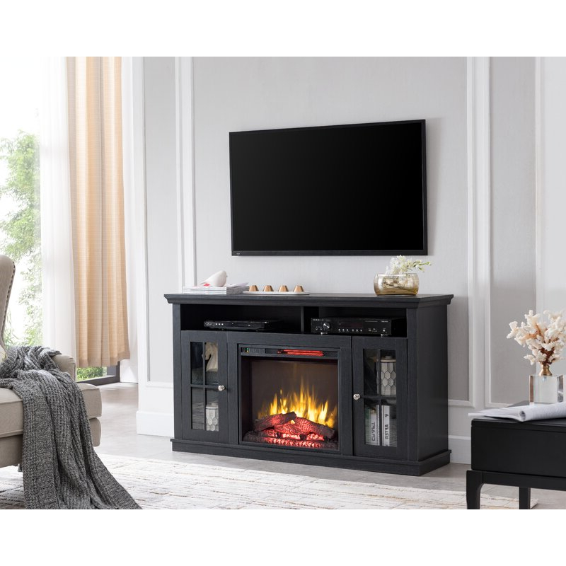 """Hetton Tv Stands For Tvs Up To 70"""" With Fireplace Included Inside Famous Red Barrel Studio® Orlane Tv Stand For Tvs Up To 60"""" With (View 14 of 25)"""