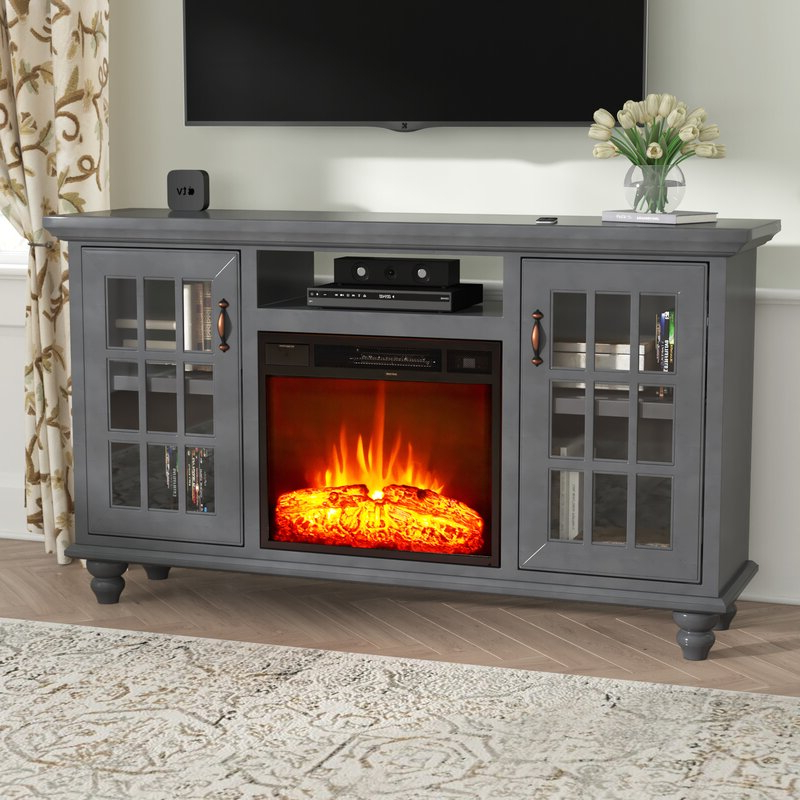 """Hetton Tv Stands For Tvs Up To 70"""" With Fireplace Included Pertaining To Fashionable Darby Home Co Williford Solid Wood Tv Stand For Tvs Up To (View 4 of 25)"""