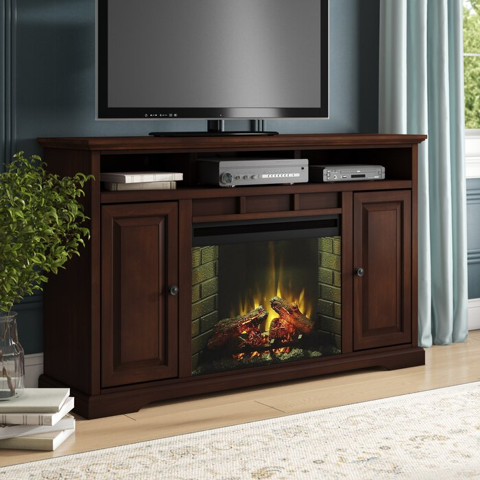 """Hetton Tv Stands For Tvs Up To 70"""" With Fireplace Included Throughout Widely Used Darby Home Co Legrand Tv Stand For Tvs Up To 70"""" With (View 10 of 25)"""