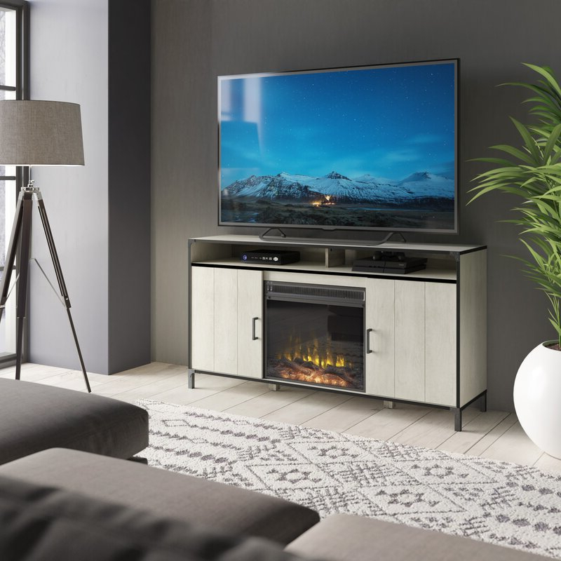 """Hetton Tv Stands For Tvs Up To 70"""" With Fireplace Included With Regard To Widely Used Gracie Oaks Viles Tv Stand For Tvs Up To 65"""" With Electric (View 25 of 25)"""