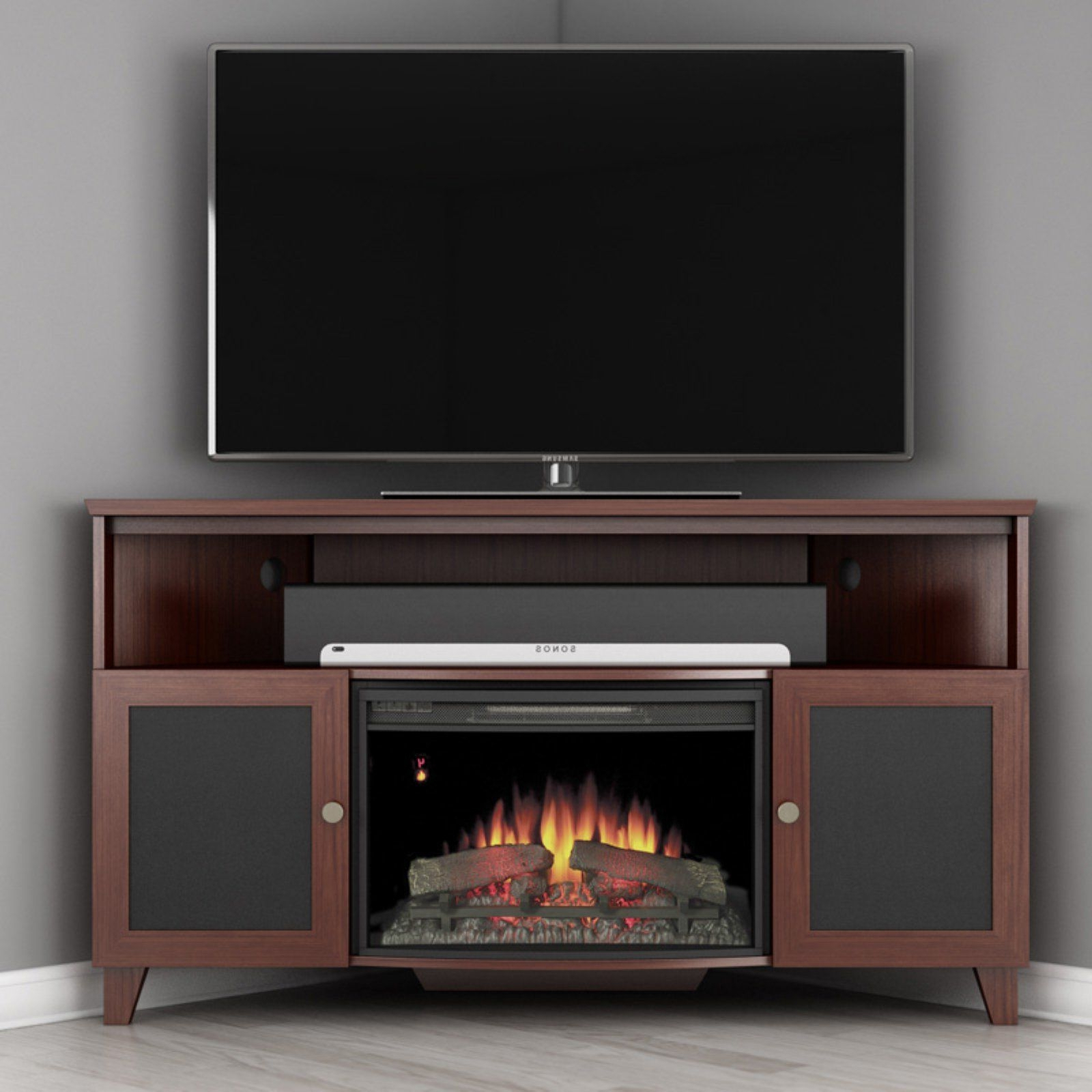 """Hetton Tv Stands For Tvs Up To 70"""" With Fireplace Included Within Current Fireplace Tv Stand 70 Inch – Ideas On Foter (View 9 of 25)"""