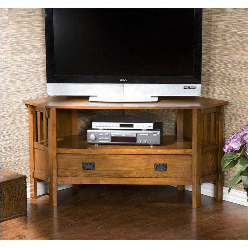 Holly & Martin Carrollton Corner Media Stand In Dark Oak Intended For Current Tribeca Oak Tv Media Stand (View 9 of 10)