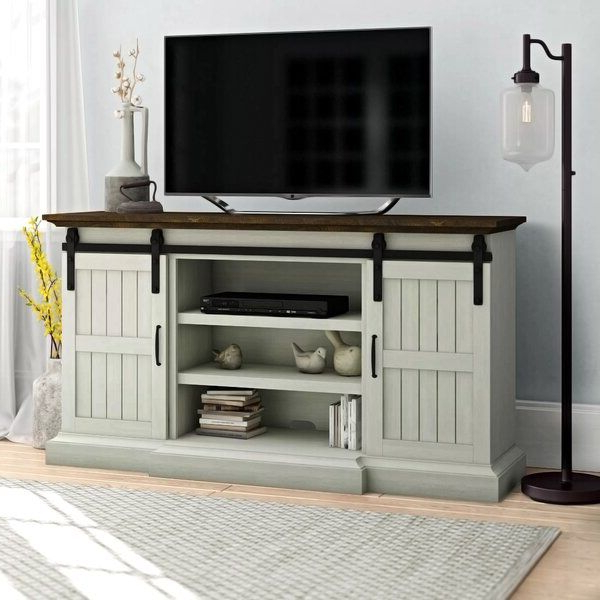 """Home Living Room Throughout Well Known Miconia Solid Wood Tv Stands For Tvs Up To 70"""" (View 24 of 25)"""