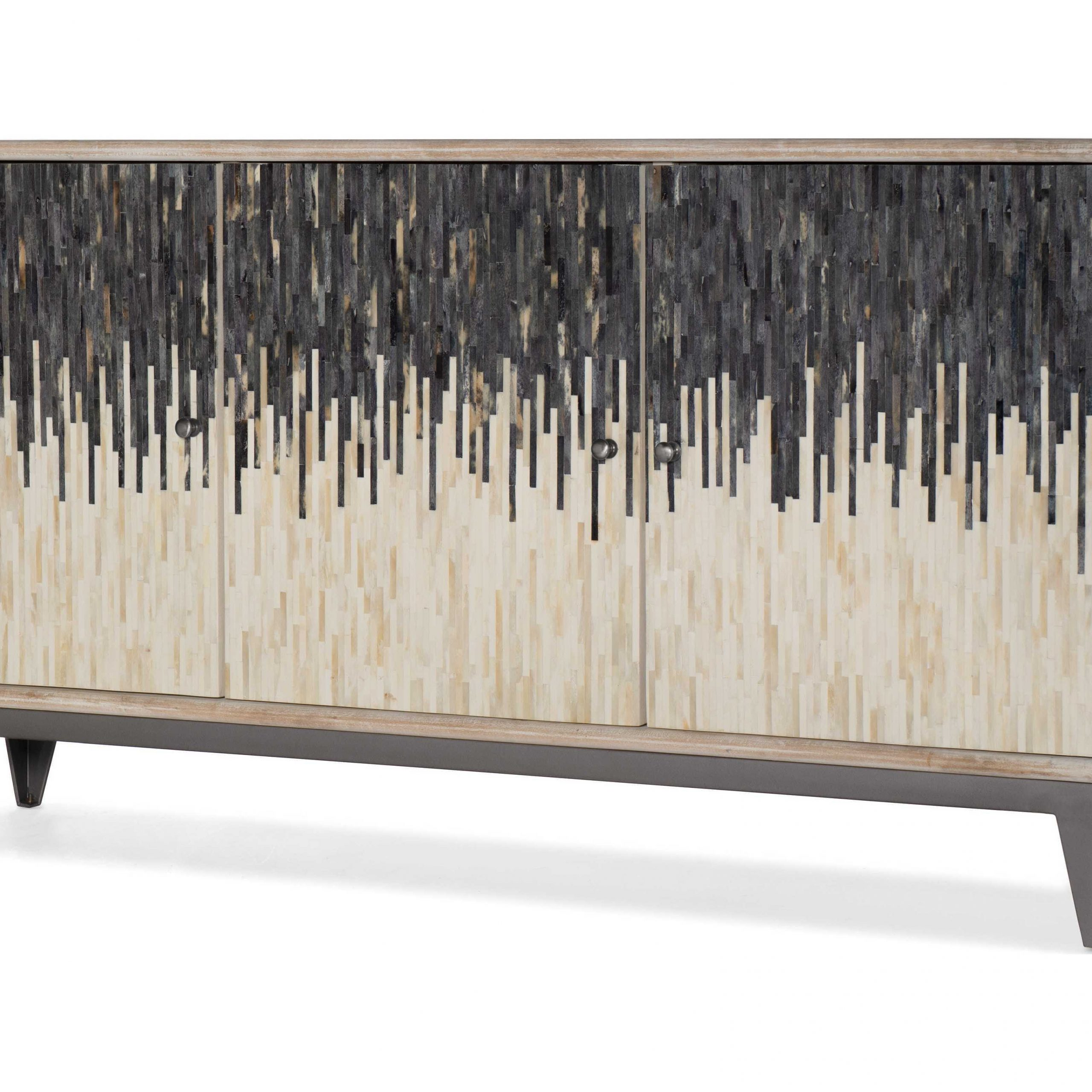 Hooker Furniture Light Wood 69'' Wide Tv Console Within Famous Lucy Cane Grey Wide Tv Stands (View 2 of 25)