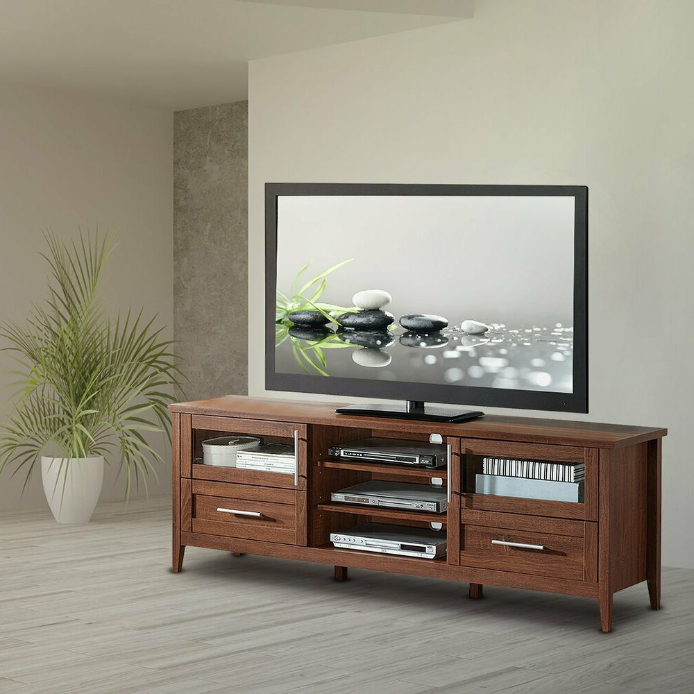 Horizontal Or Vertical Storage Shelf Tv Stands Intended For Current Modern Tv Stand With Storage, Drawers & Shelves For Tv's (View 4 of 10)