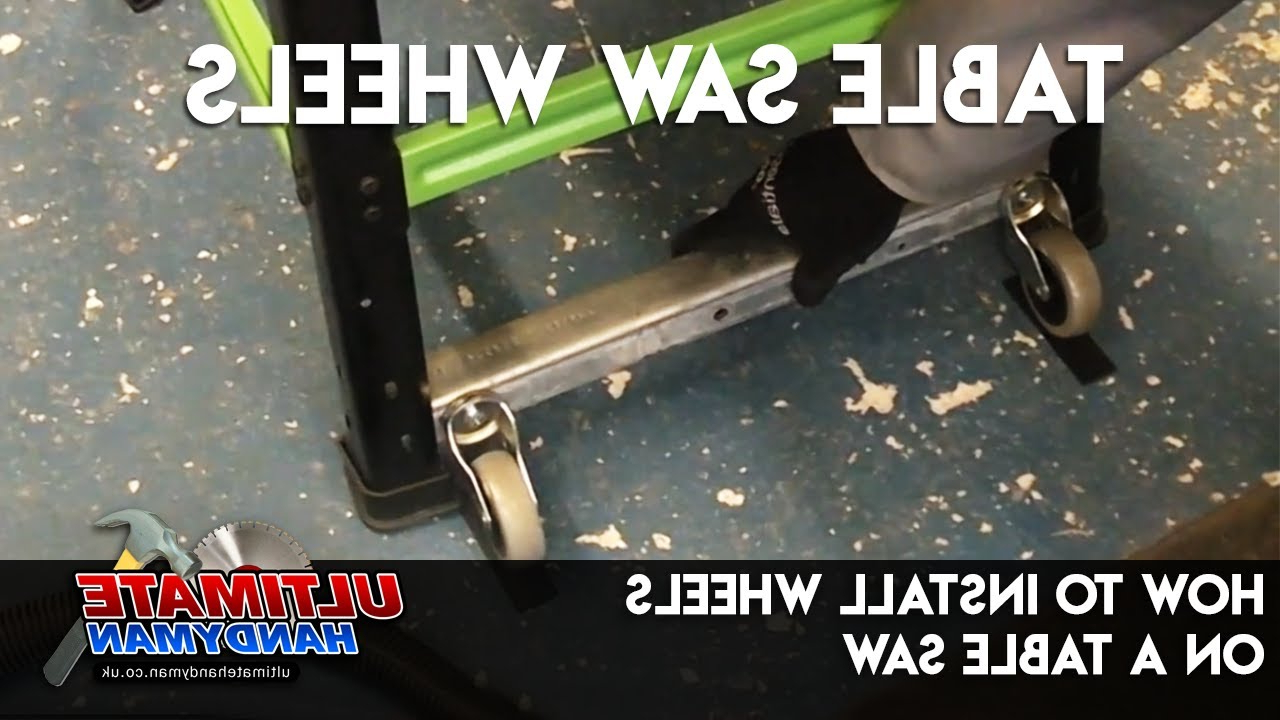 How To Install Wheels On A Table Saw – Youtube For Popular Delta Large Tv Stands (View 10 of 10)
