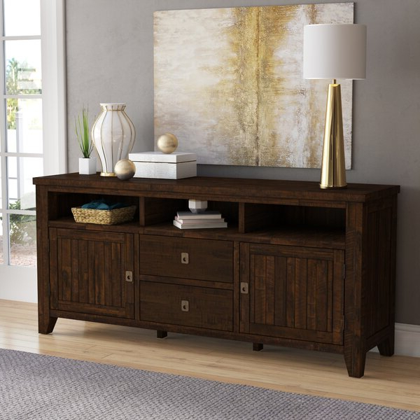 """Hurley Solid Wood Tv Stand For Tvs Up To 78 Inches & Reviews In 2018 Tenley Tv Stands For Tvs Up To 78"""" (View 20 of 25)"""
