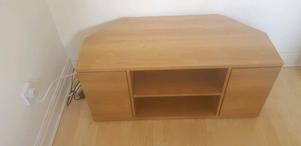 In Gnosall Intended For Well Known Fulton Oak Effect Corner Tv Stands (View 15 of 25)