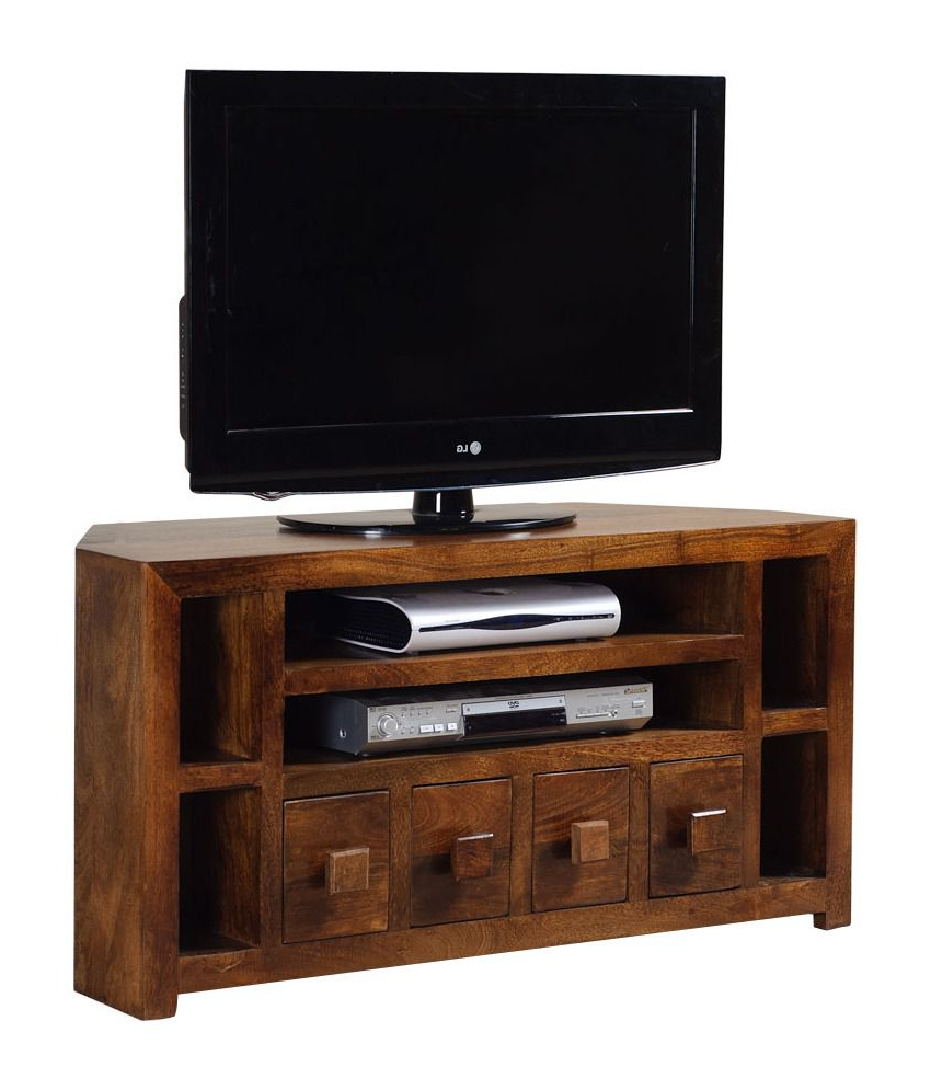 Indi Wide Tv Stands With Regard To 2017 4 Drawer Corner Tv Stand – Buy 4 Drawer Corner Tv Stand (View 13 of 25)