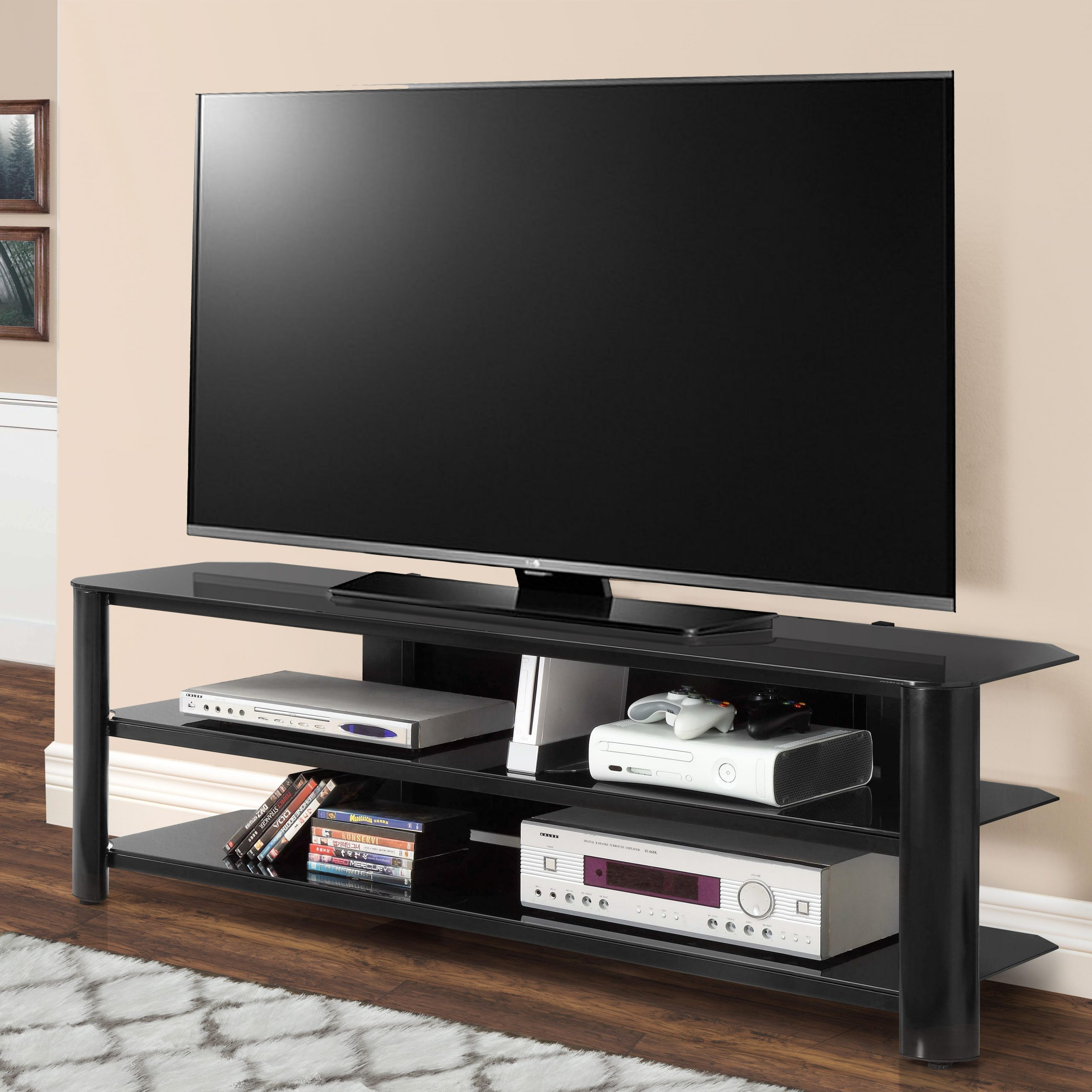 Innovex Oxford Tv Stand, 65 Inch, Black: Amazon (View 15 of 25)
