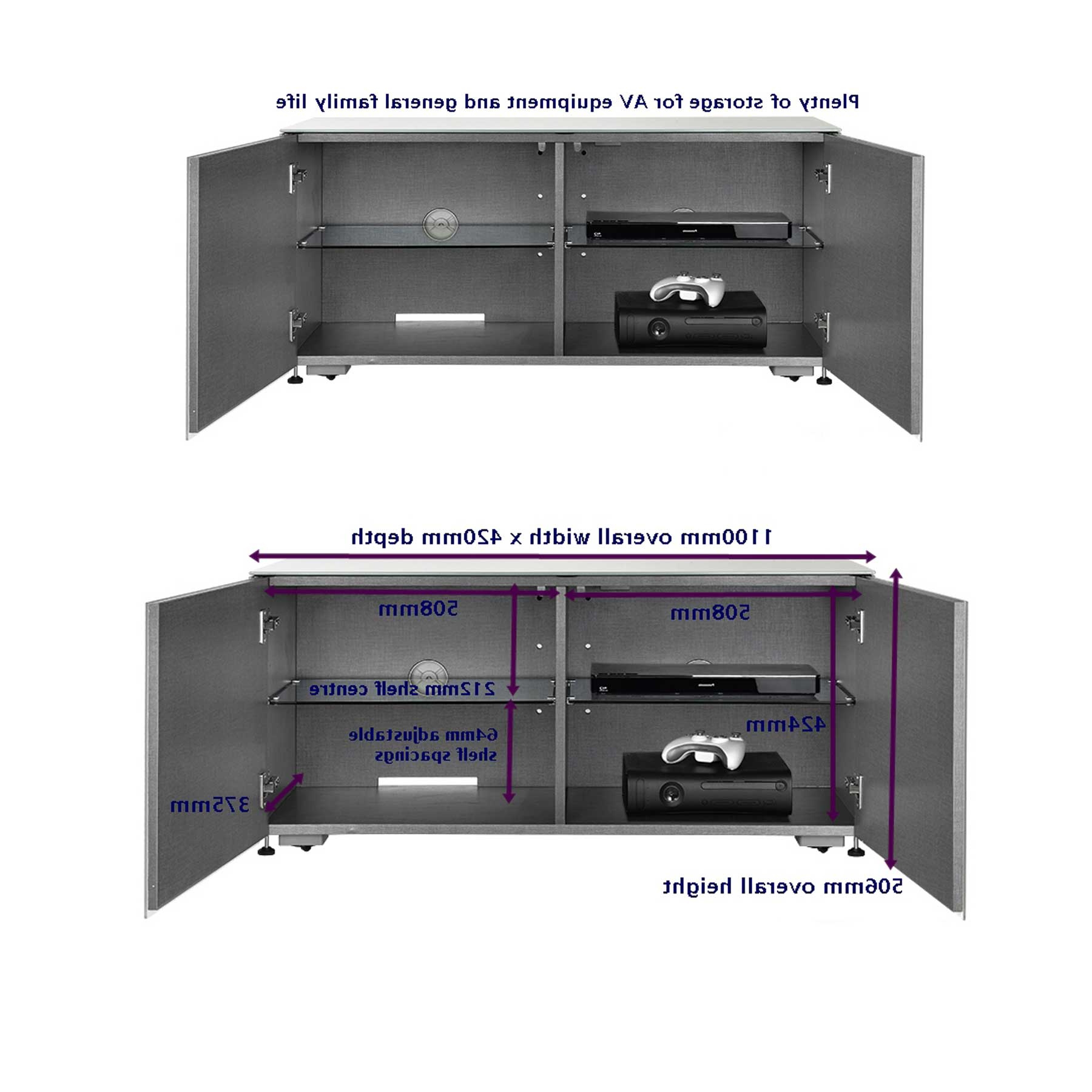 """Invictus White Tv Stand For Up To 55"""" Tvs Inside Most Popular Lansing Tv Stands For Tvs Up To 55"""" (View 21 of 25)"""